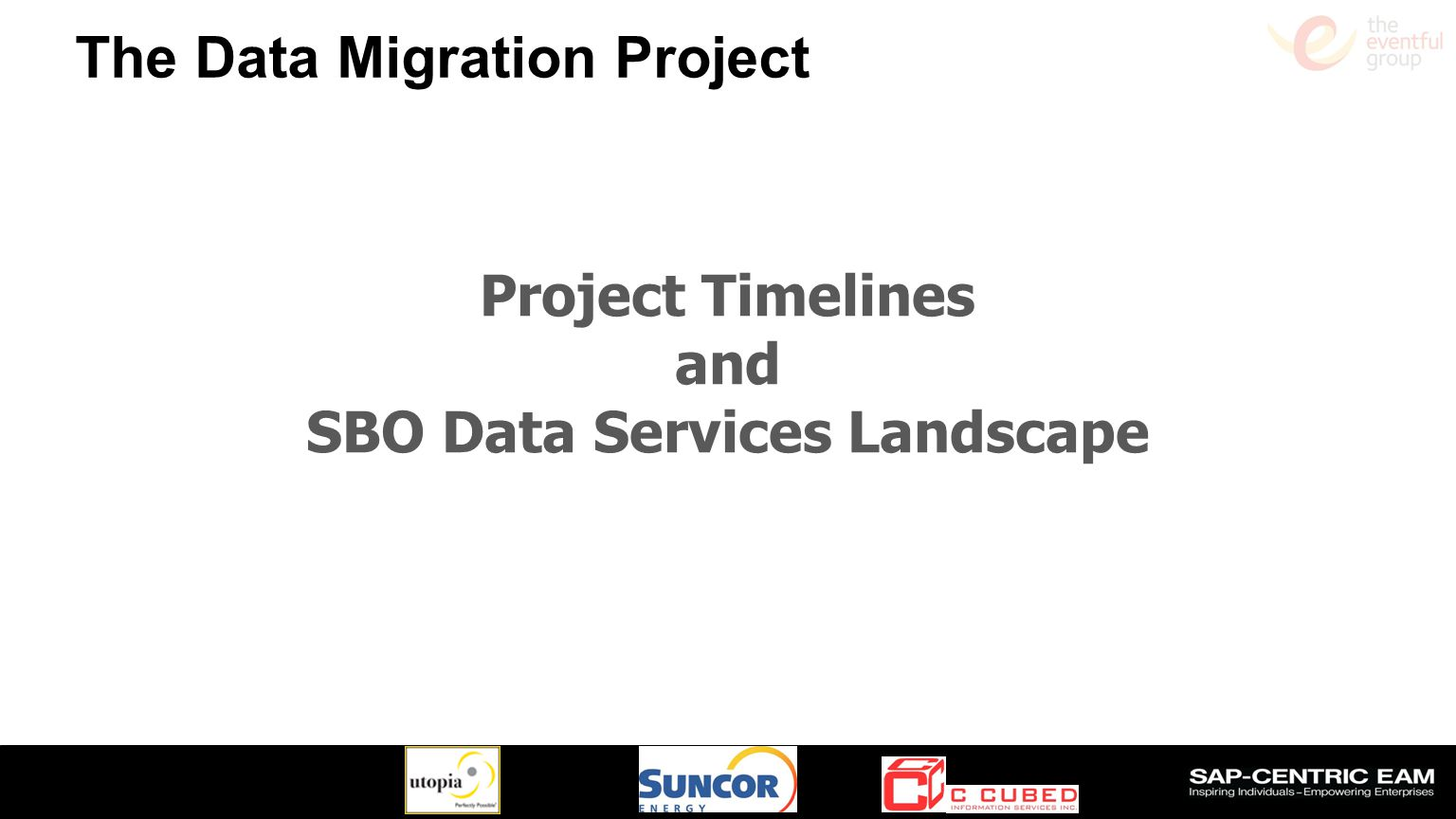 Project Timelines and SBO Data Services Landscape