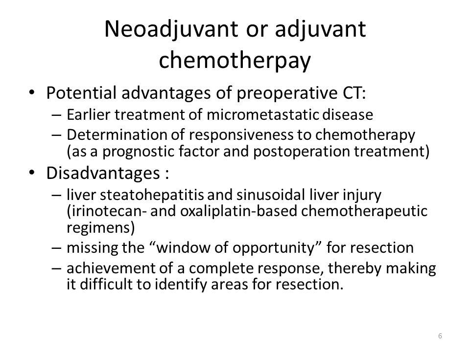 Neoadjuvant or adjuvant chemotherpay