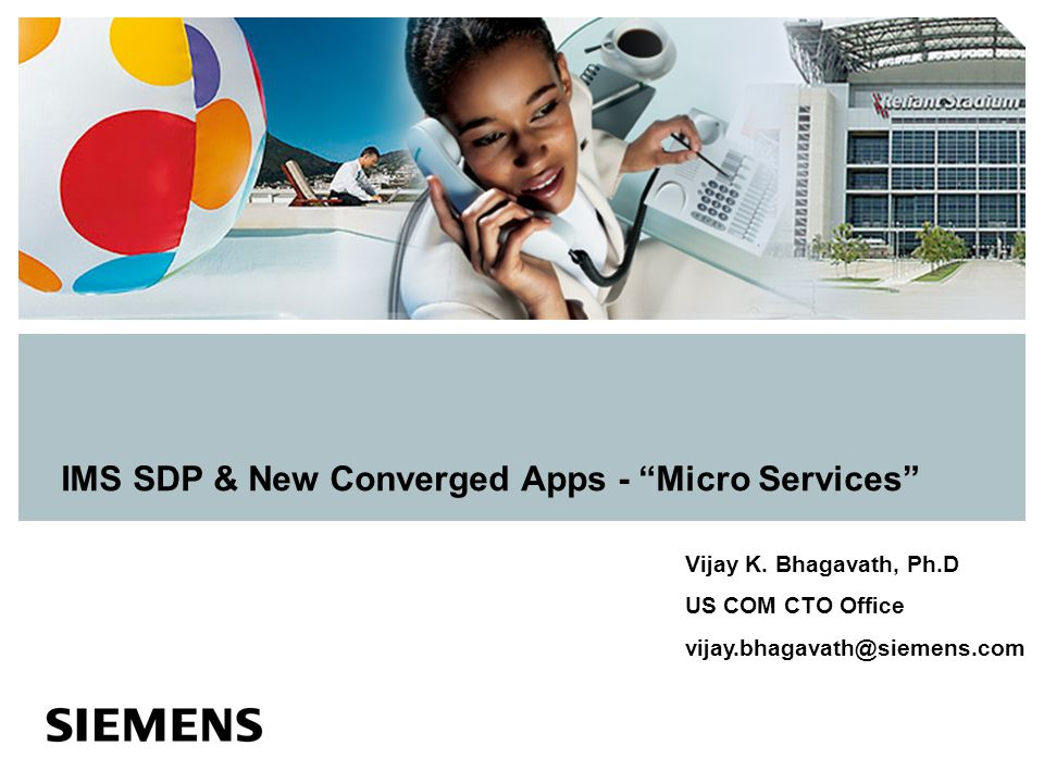 IMS SDP & New Converged Apps - Micro Services