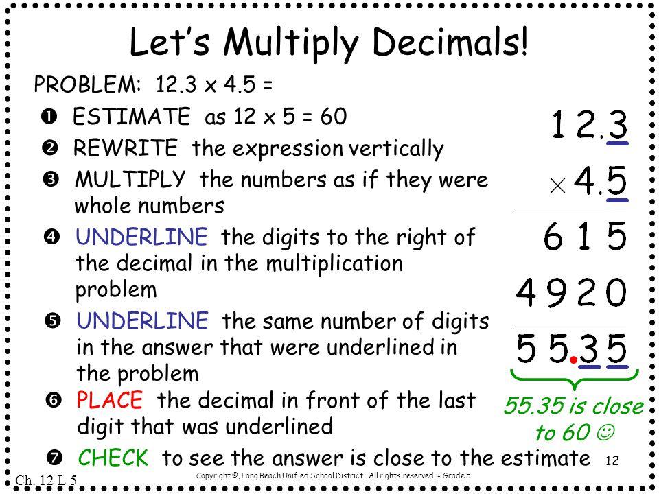 Let's Multiply Decimals!