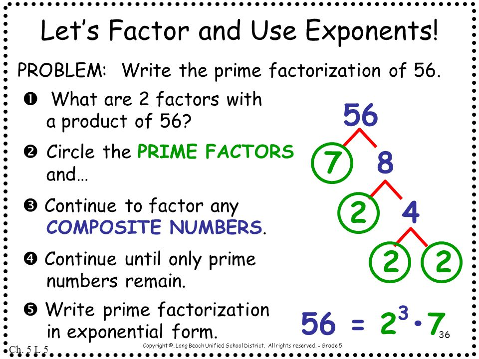 Let's Factor and Use Exponents!