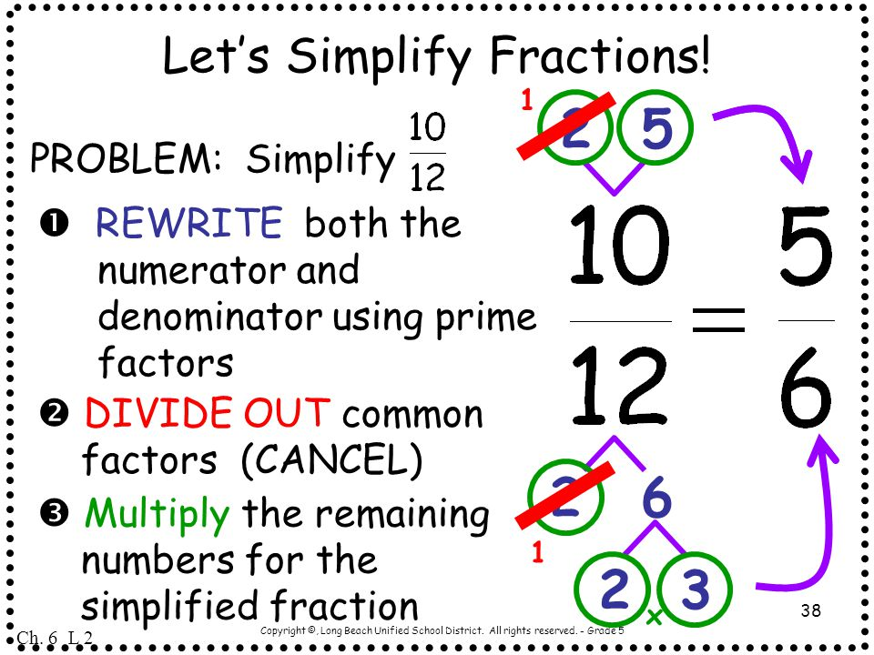Let's Simplify Fractions!