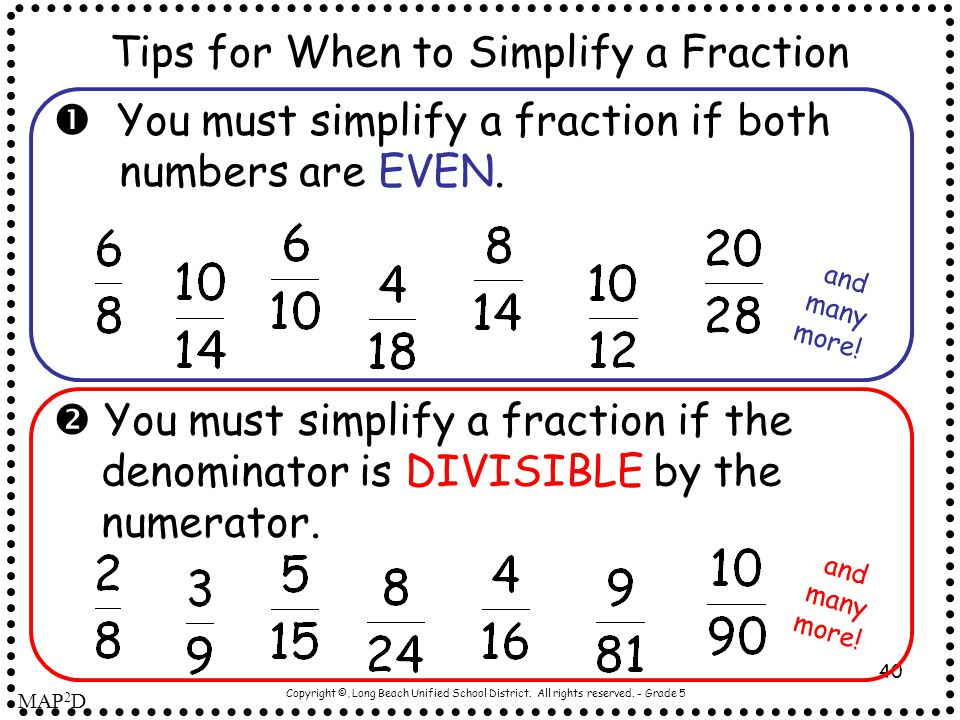 Tips for When to Simplify a Fraction