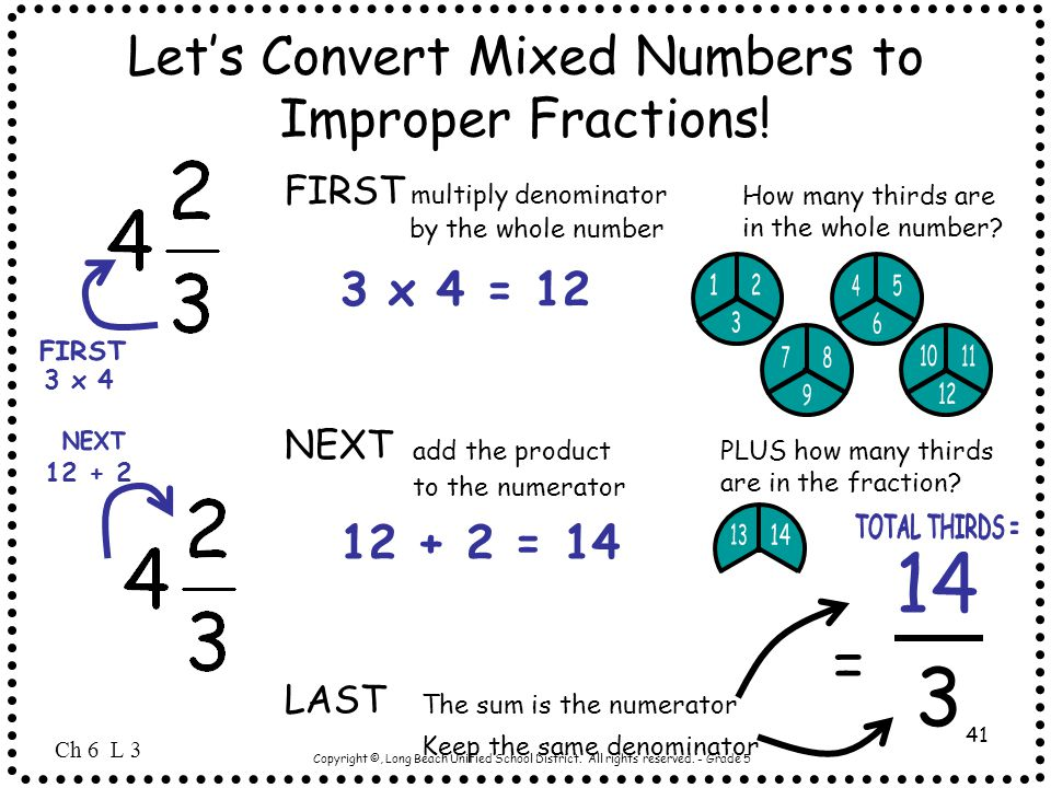 Let's Convert Mixed Numbers to Improper Fractions!