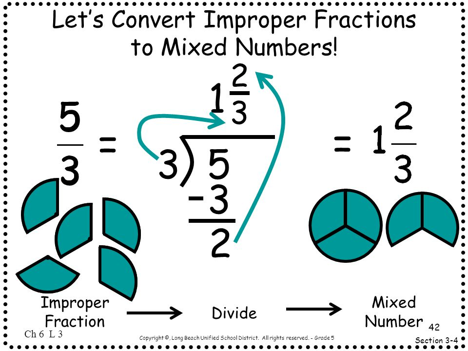 Let's Convert Improper Fractions to Mixed Numbers!