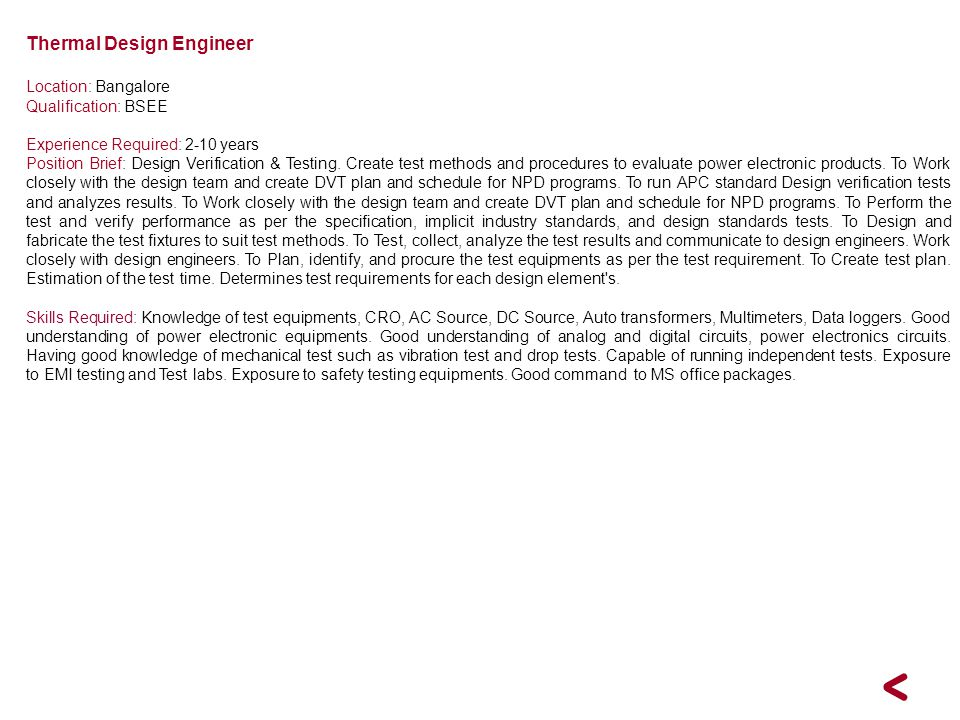 Thermal Design Engineer