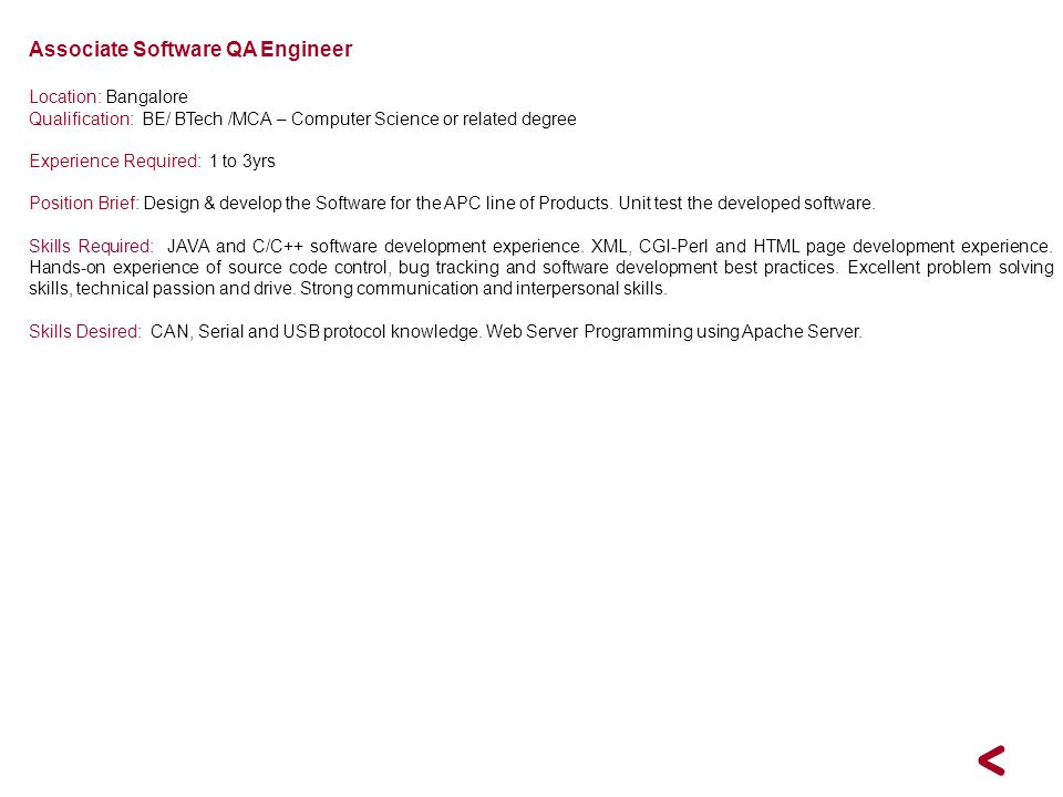 Associate Software QA Engineer