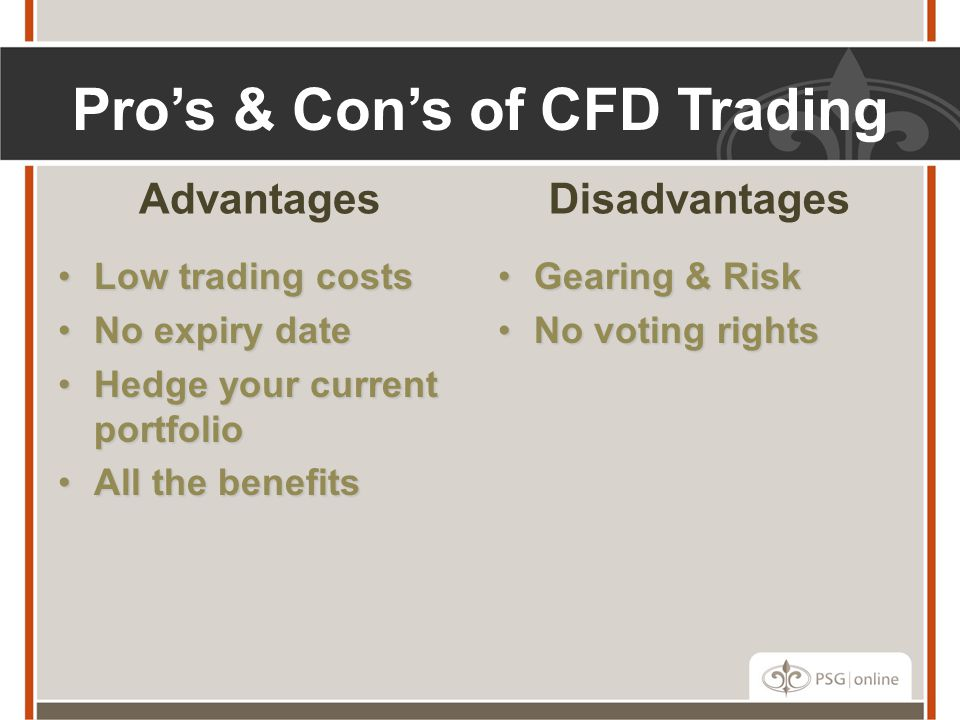 Pro's & Con's of CFD Trading