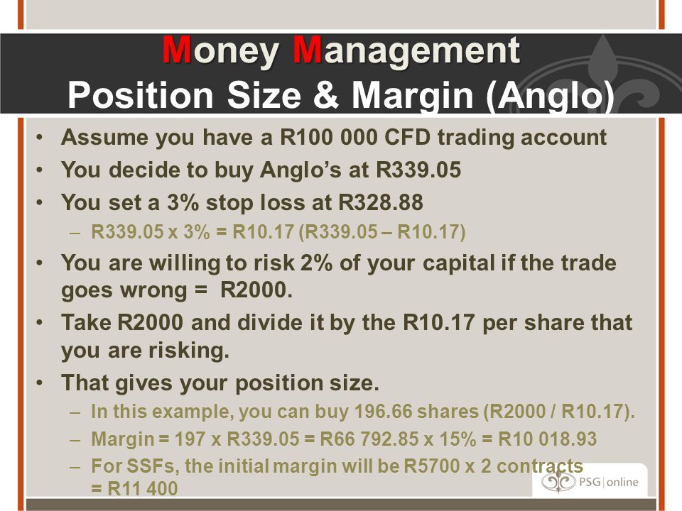 Money Management Position Size & Margin (Anglo)