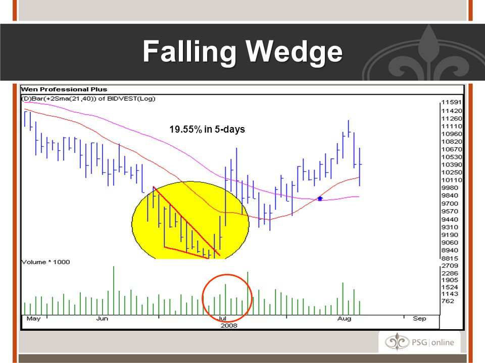 Falling Wedge 19.55% in 5-days