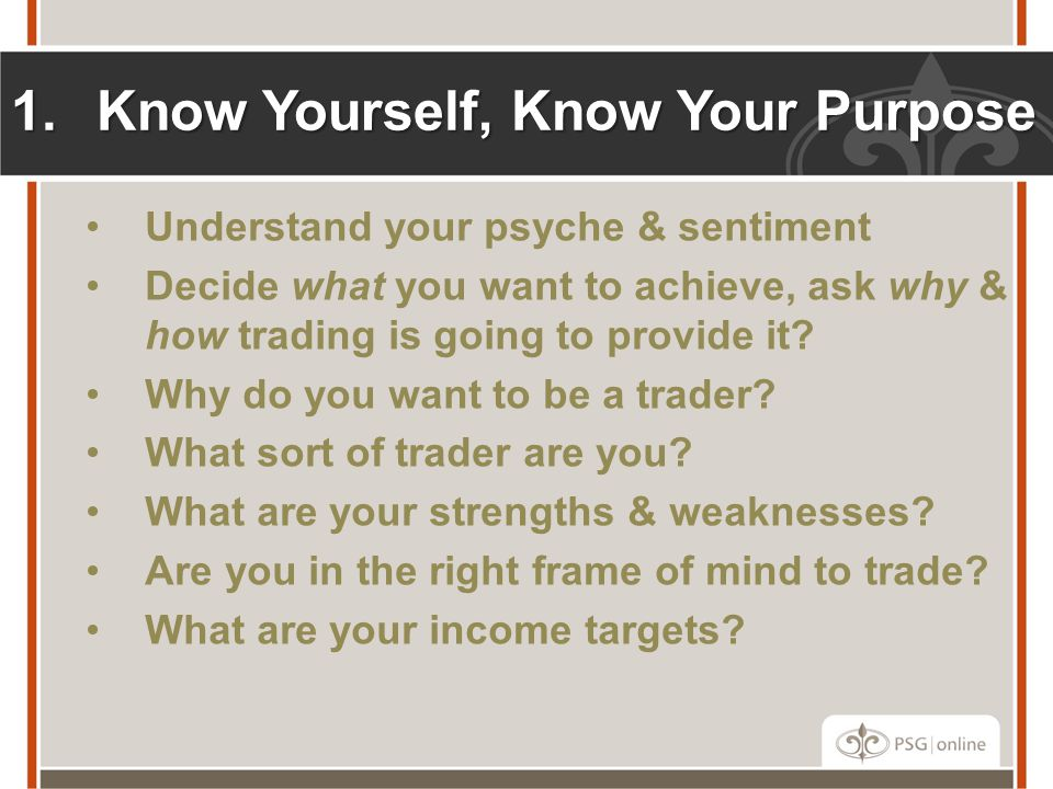 Know Yourself, Know Your Purpose