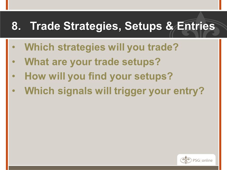 Trade Strategies, Setups & Entries