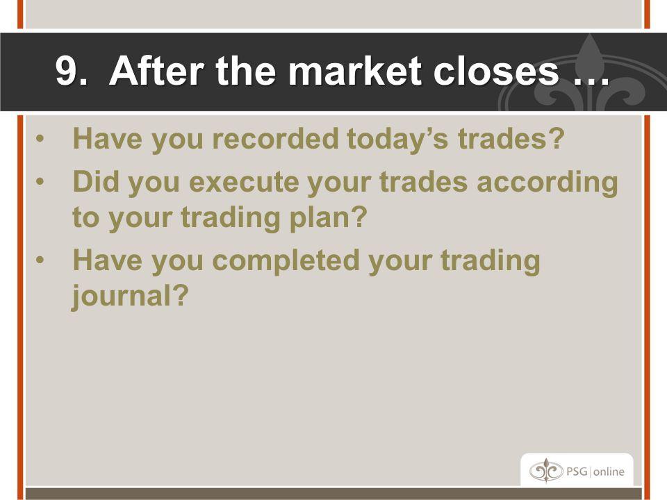 After the market closes …