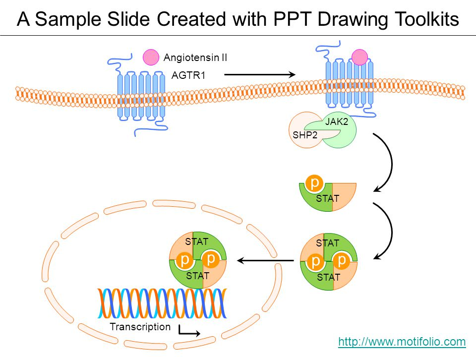 A Sample Slide Created with PPT Drawing Toolkits