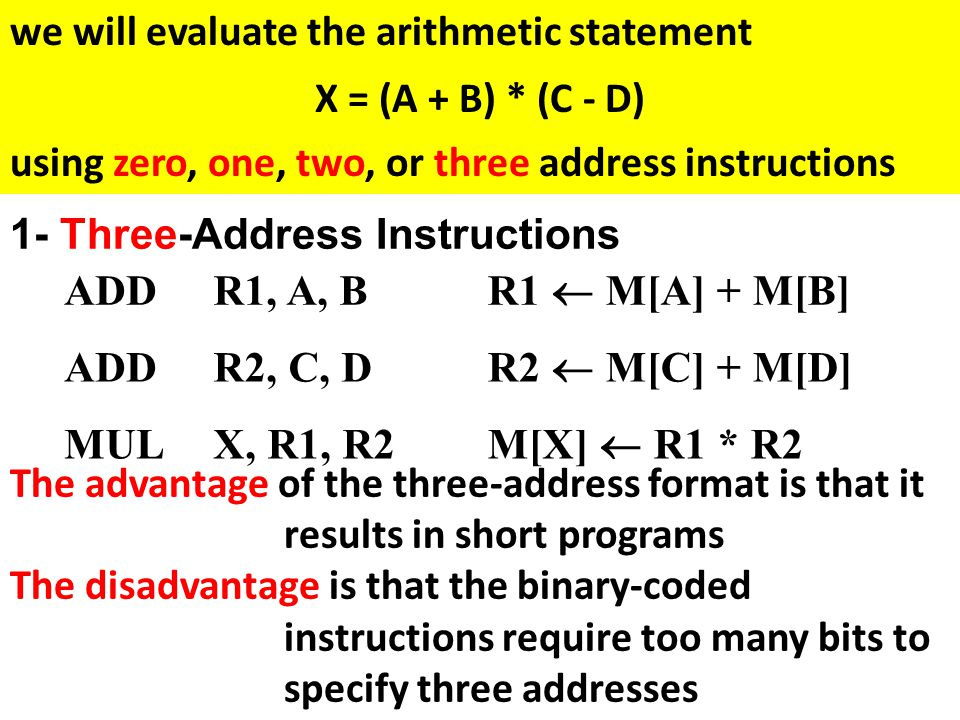 we will evaluate the arithmetic statement