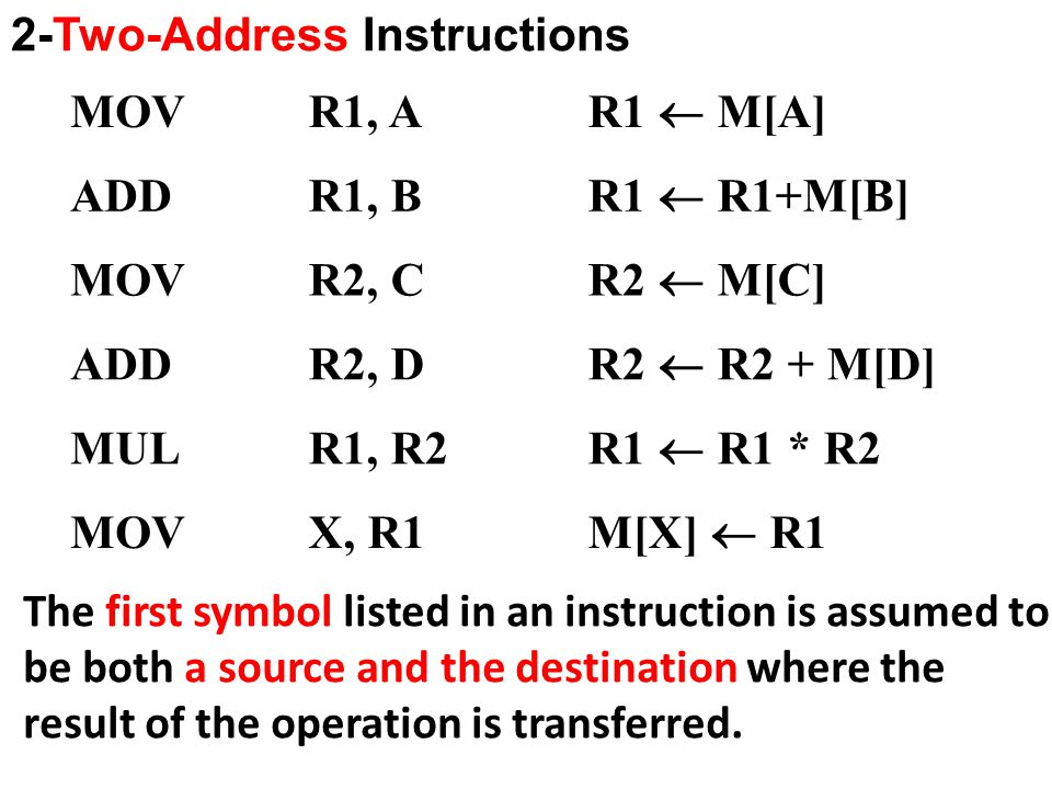 2-Two-Address Instructions