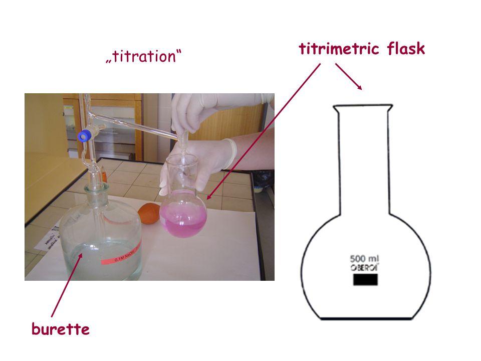 "titrimetric flask ""titration burette"