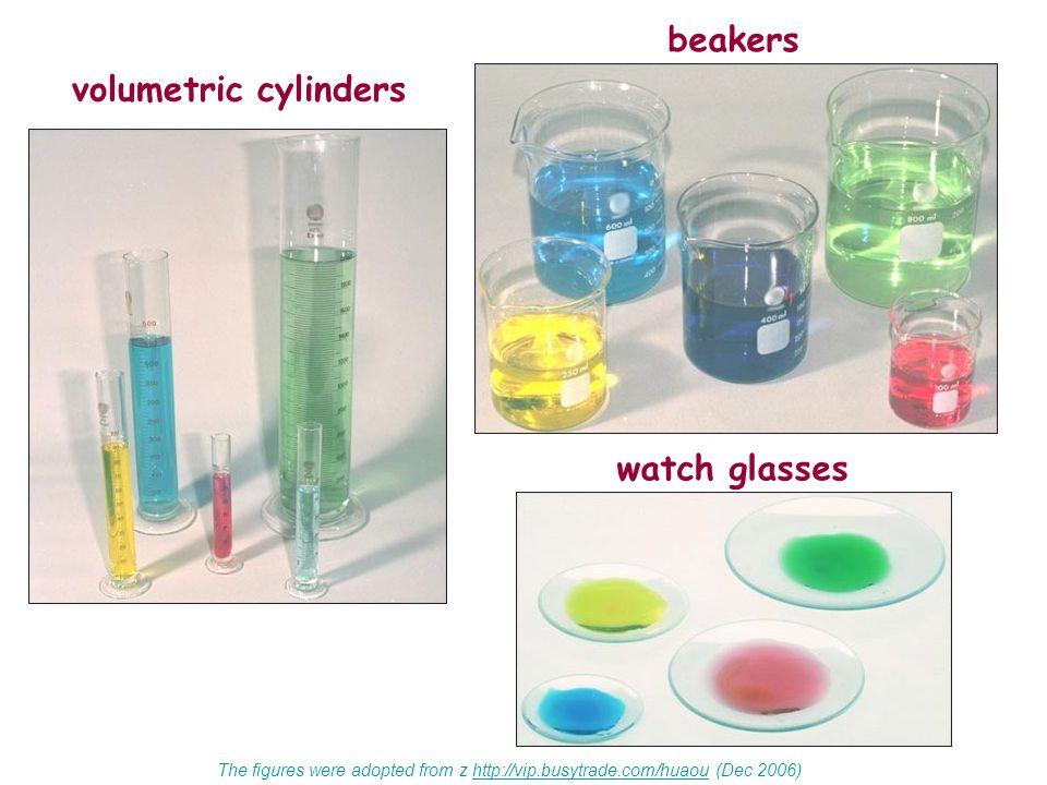 beakers volumetric cylinders