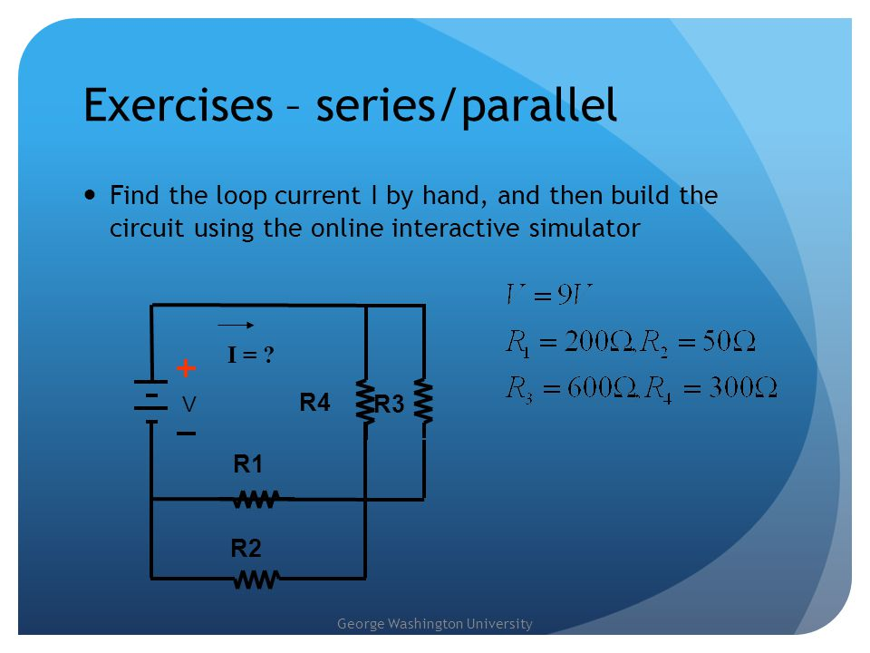 Exercises – series/parallel