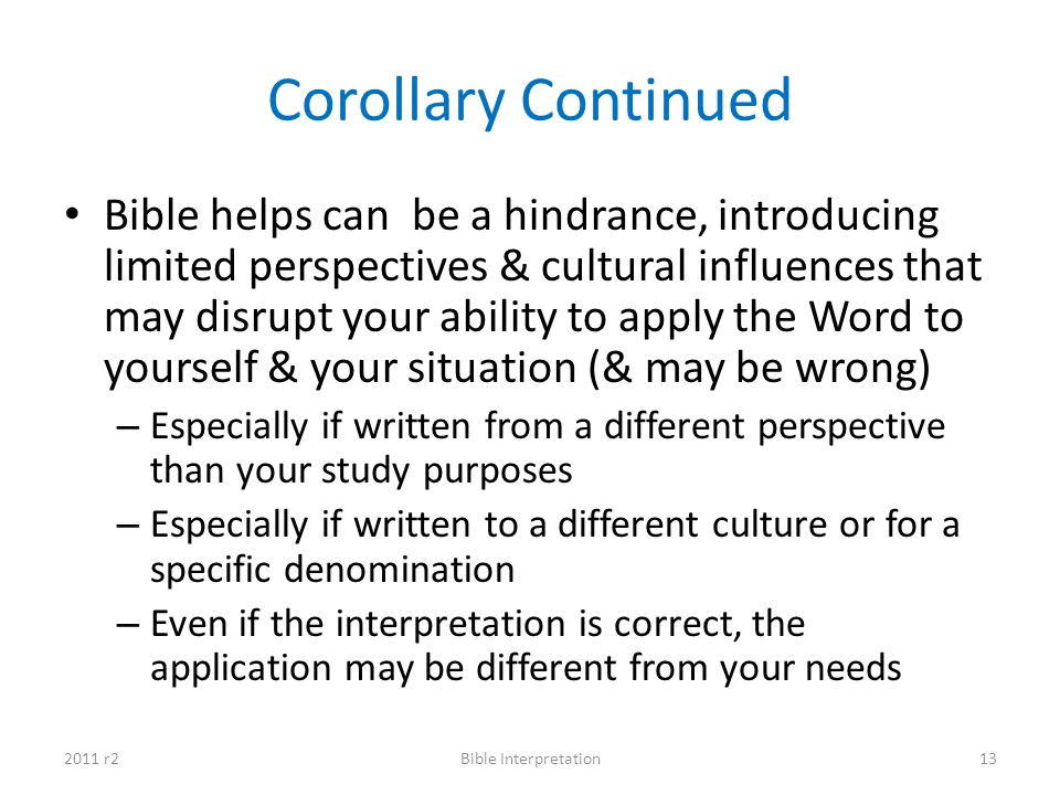 Corollary Continued
