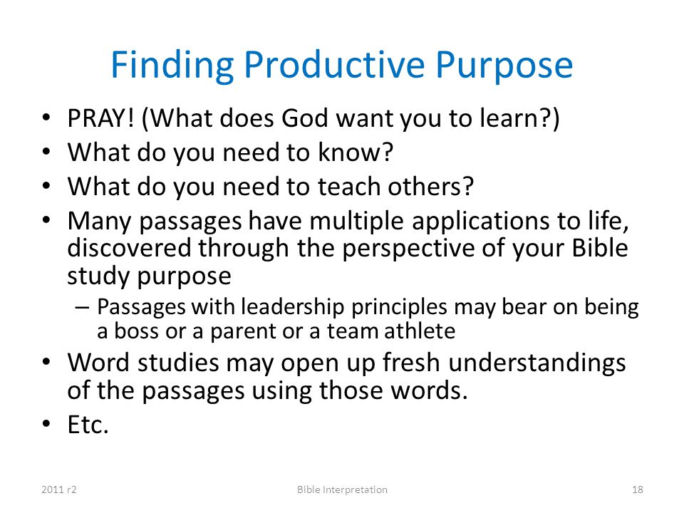 Finding Productive Purpose