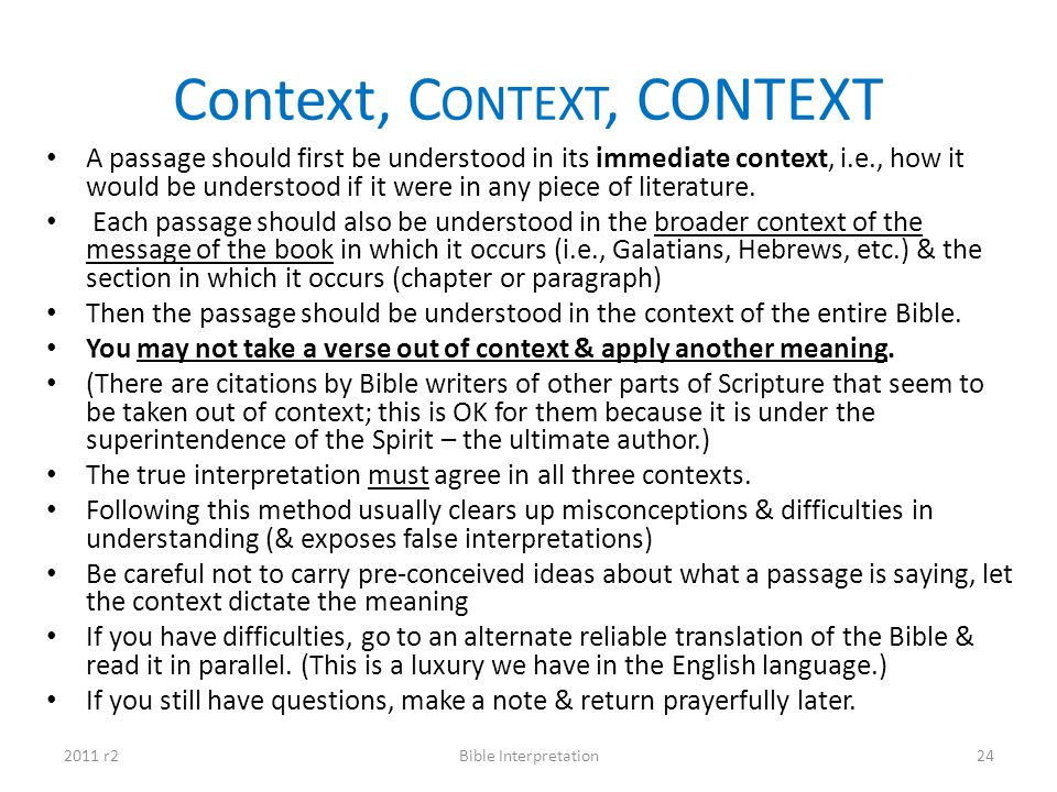 Context, Context, CONTEXT