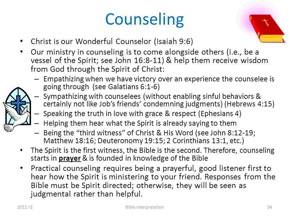 Counseling Christ is our Wonderful Counselor (Isaiah 9:6)
