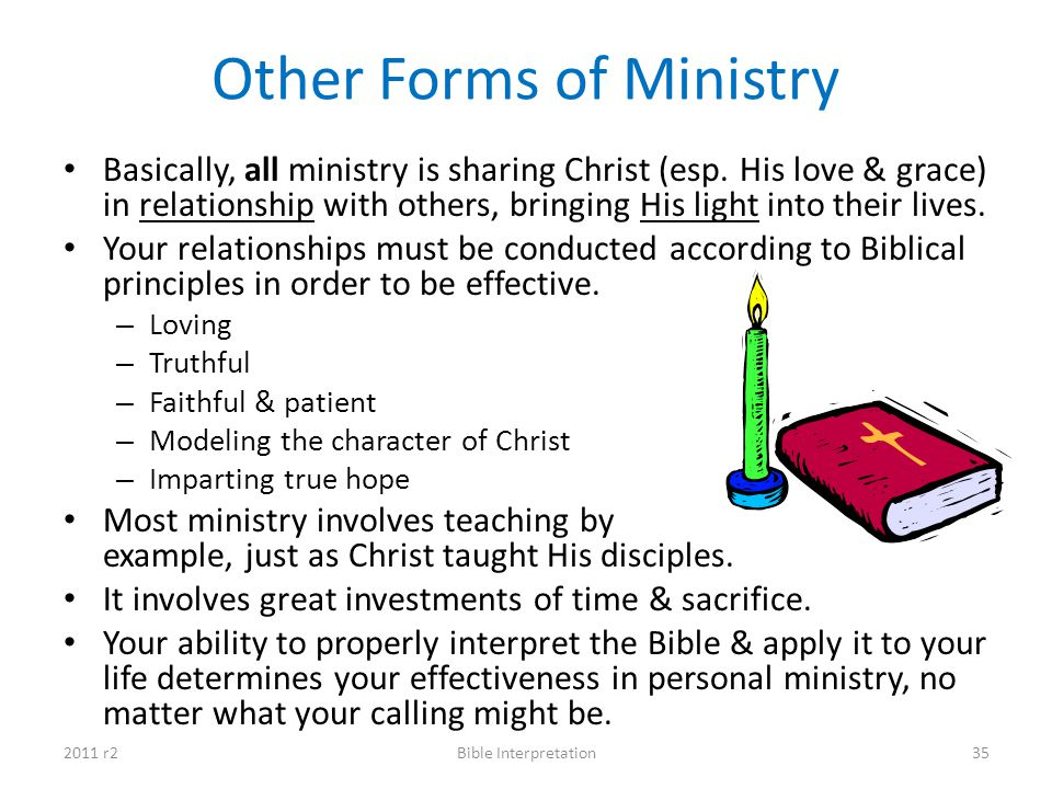 Other Forms of Ministry