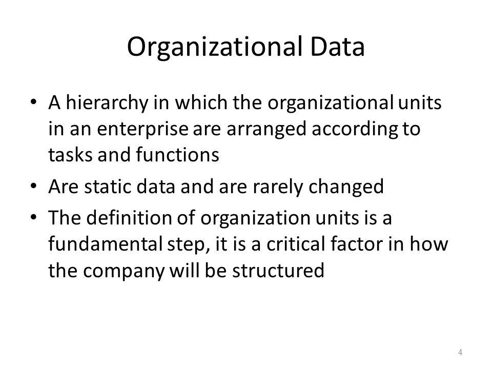 ECC 6.0 January 2008. Organizational Data.