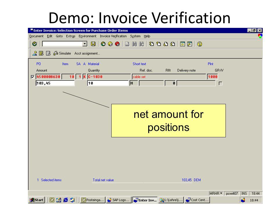 Demo: Invoice Verification