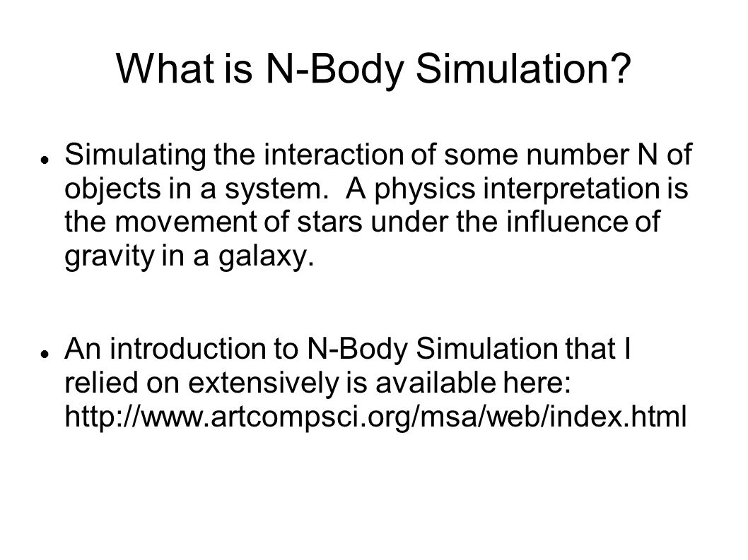 What is N-Body Simulation