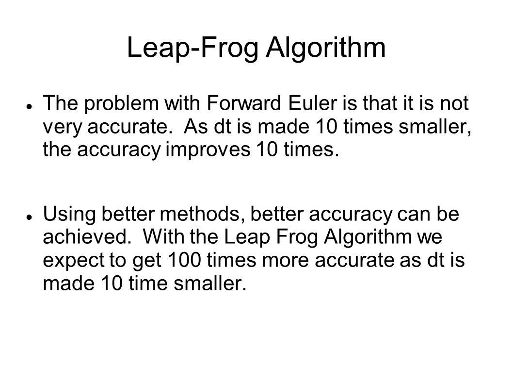 Leap-Frog Algorithm