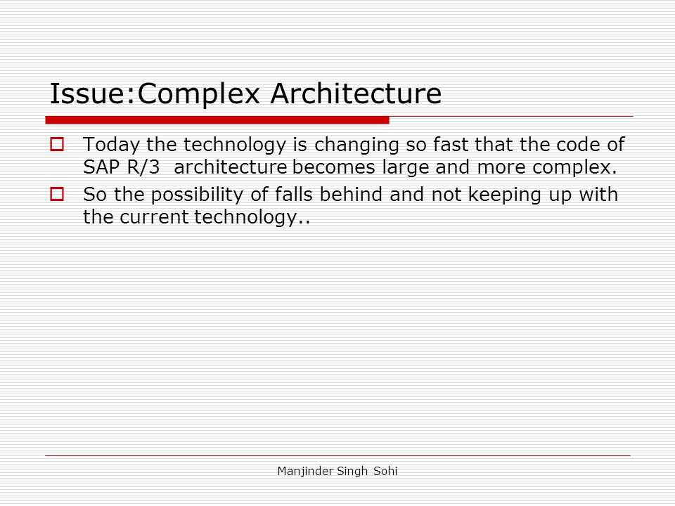 Issue:Complex Architecture