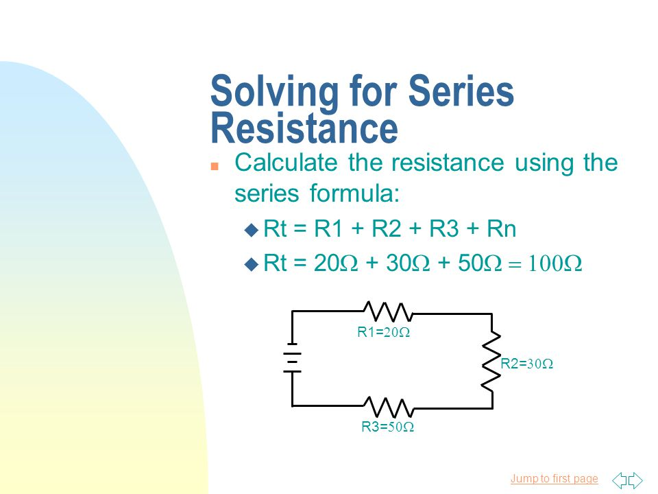 Solving for Series Resistance