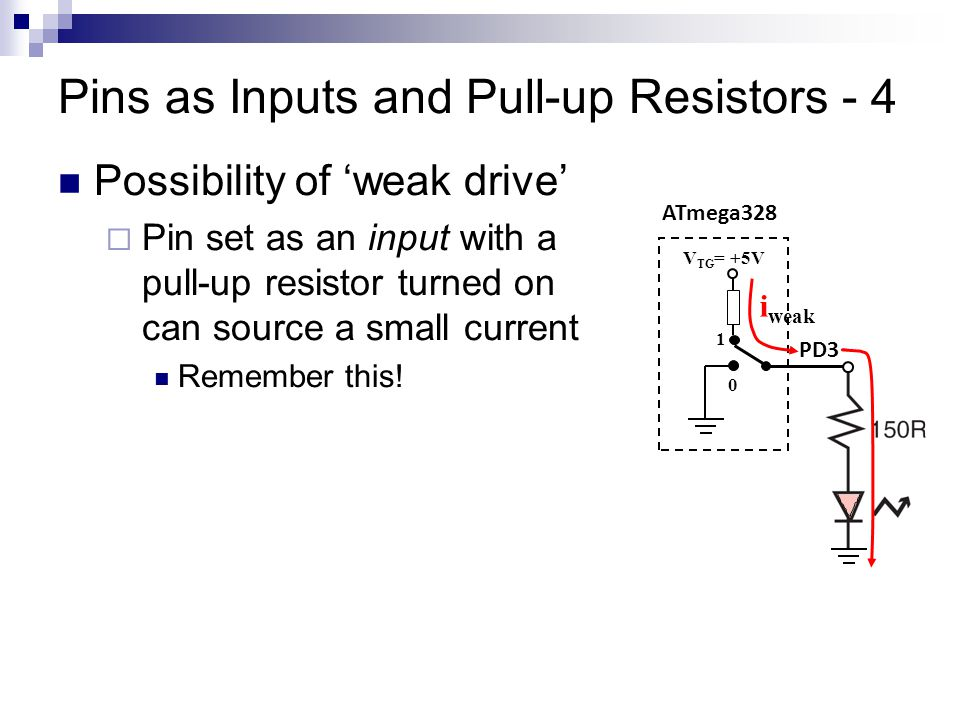 Pins as Inputs and Pull-up Resistors - 4