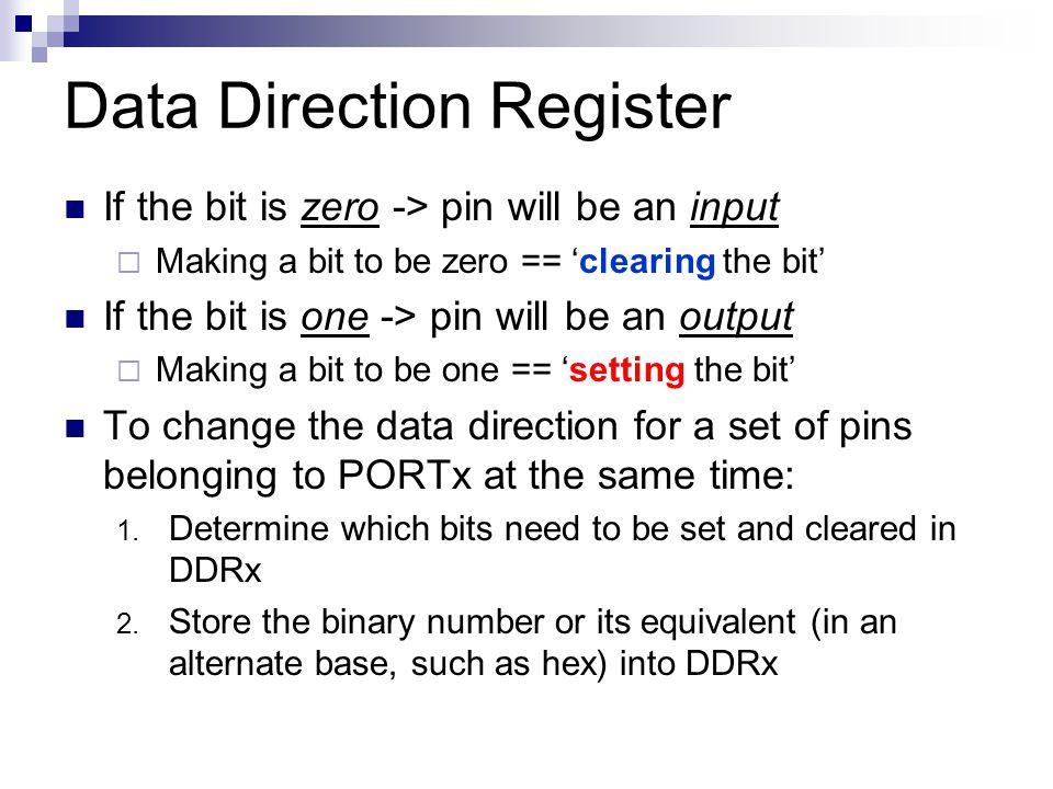 Data Direction Register