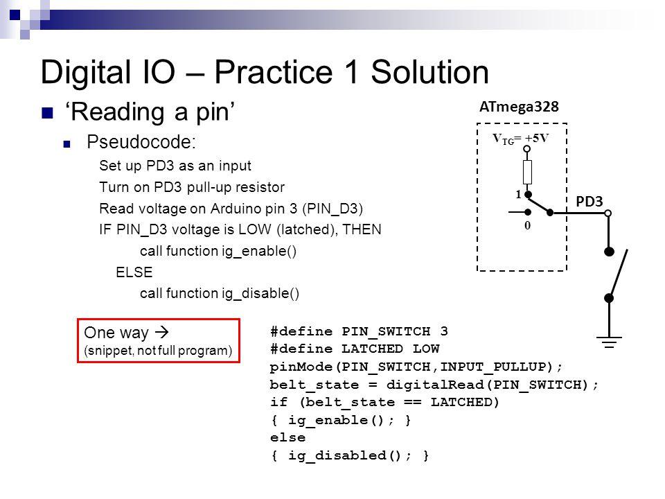 Digital IO – Practice 1 Solution