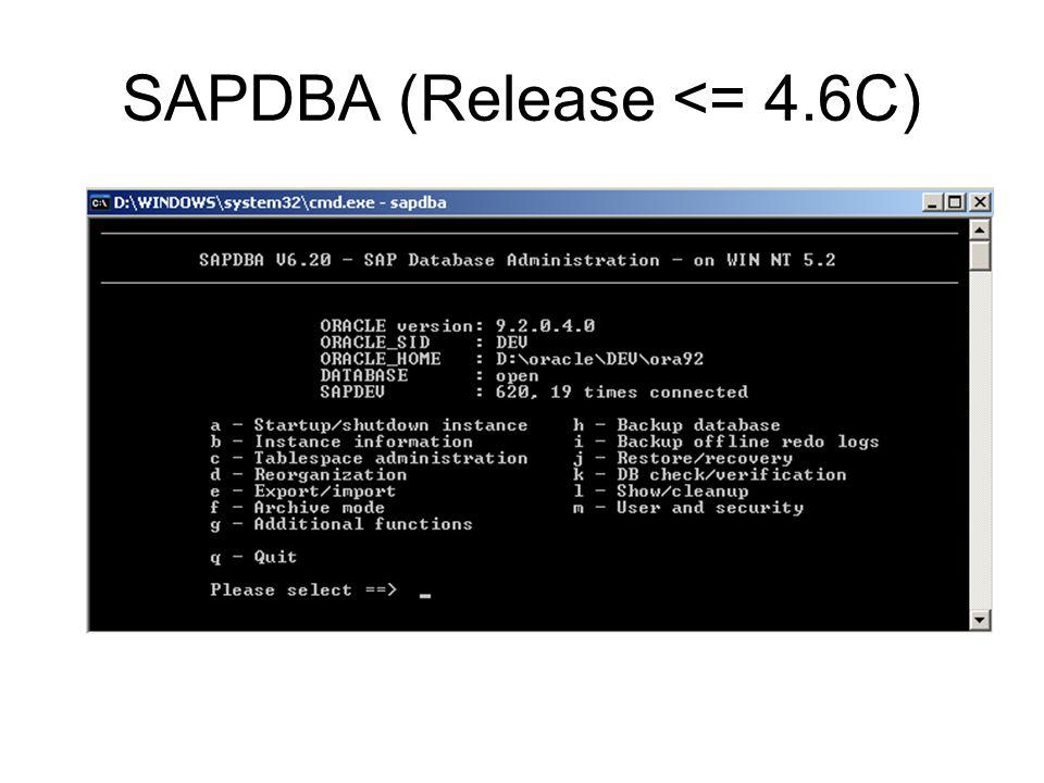 SAPDBA (Release <= 4.6C)