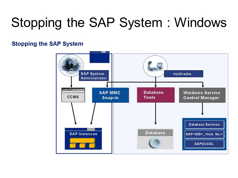 Stopping the SAP System : Windows