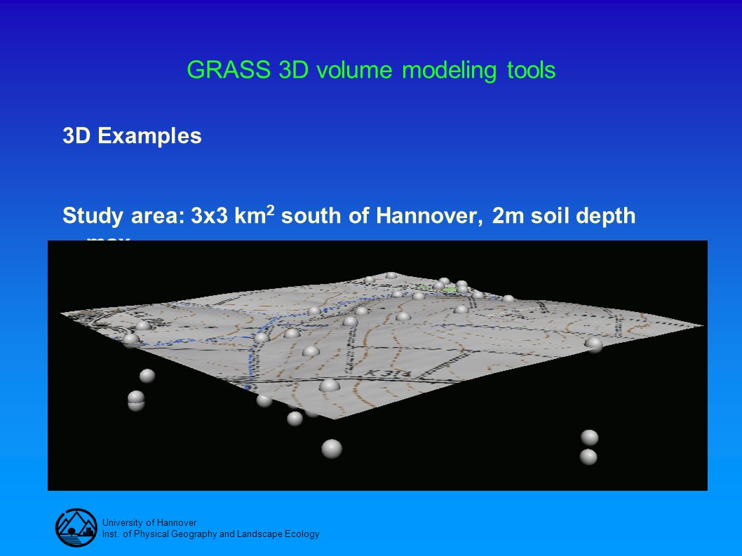 GRASS 3D volume modeling tools