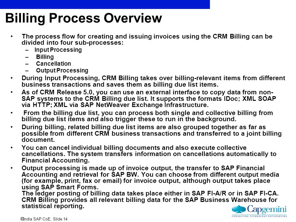 Billing Process Overview