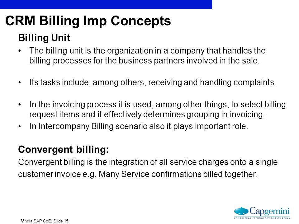 CRM Billing Imp Concepts