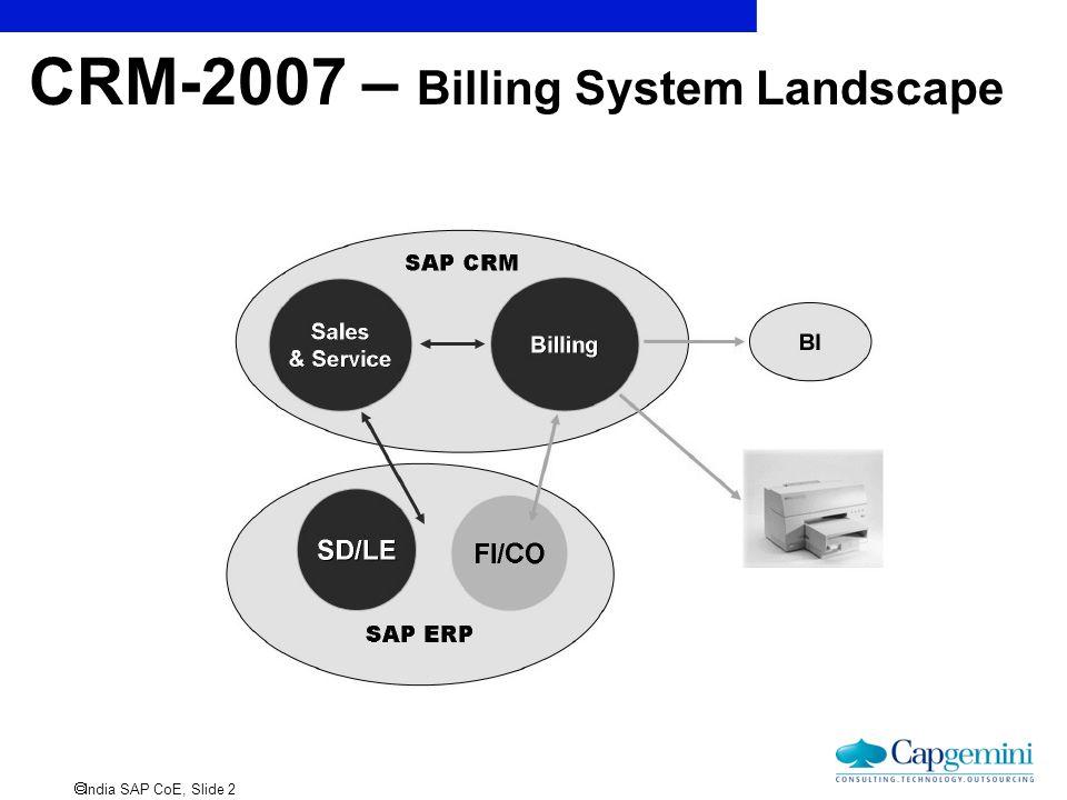 CRM-2007 – Billing System Landscape