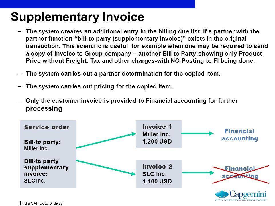 Supplementary Invoice