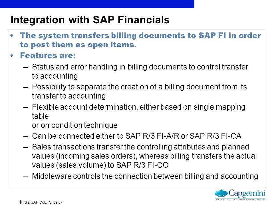 Integration with SAP Financials