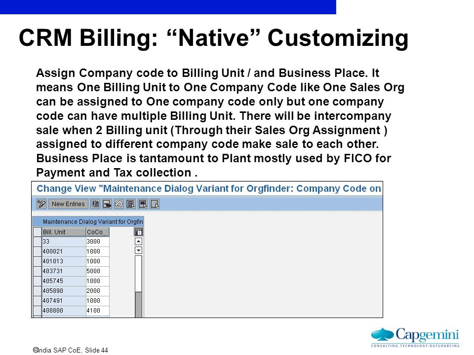 CRM Billing: Native Customizing