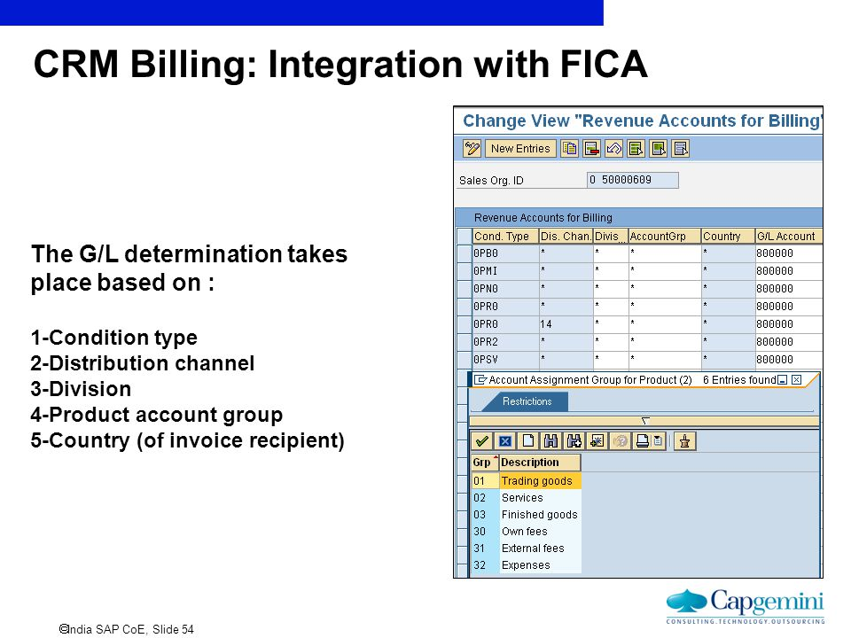 CRM Billing: Integration with FICA