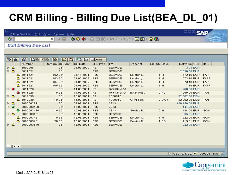 CRM Billing - Billing Due List(BEA_DL_01)