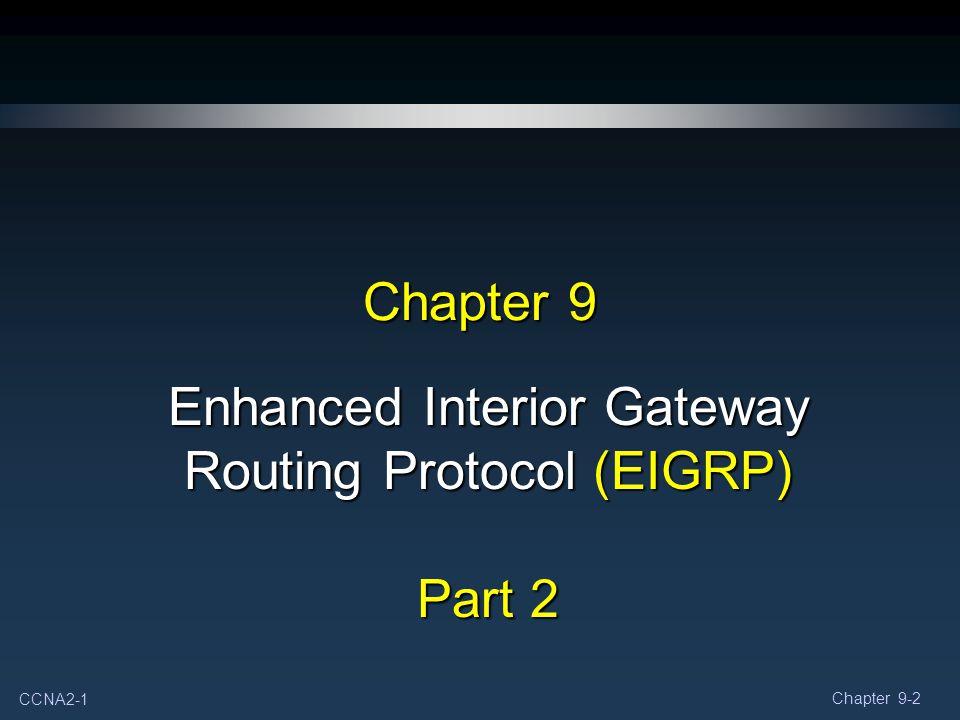 Enhanced Interior Gateway Routing Protocol (EIGRP) Part 2