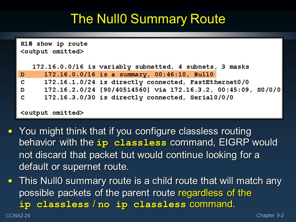 The Null0 Summary Route